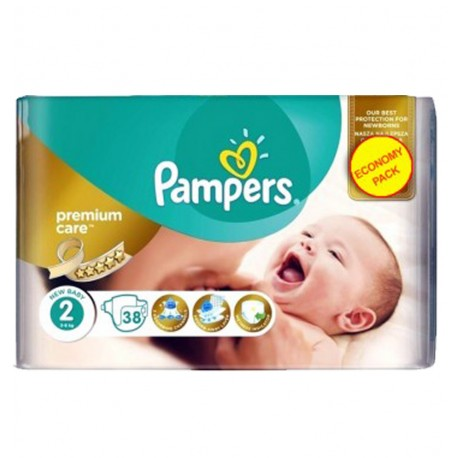 Pampers - Pack 38 Couches New Baby - Premium Care taille 2 sur Les Couches