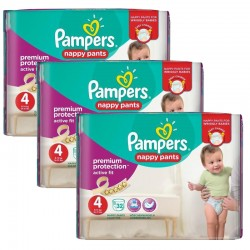 Pampers - Maxi Pack 128 Couches Active Fit - Pants taille 4