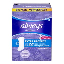 Always - 52 Protèges-Slips Extra Protect taille Large sur Les Couches