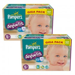 Pampers - Maxi Giga Pack 235 Couches Active Fit taille 5