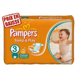 Pampers - 82 Couches Sleep & Play taille 3 sur Les Couches