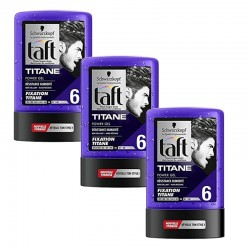 Lot de 3 Taft Gel 300 ml Titane N°6 Tube sur Les Couches