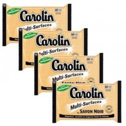 Carolin Serpillières 4X15 au Savon Noir Multi-surfaces sur Les Couches