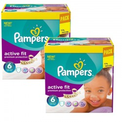 Pampers - Maxi Pack 240 Couches Active Fit - Premiun Protection taille 6