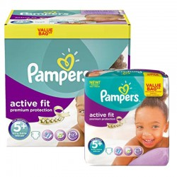Pampers - Giga Pack 288 Couches Active Fit - Premium Protection taille 5+