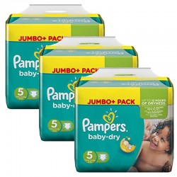 Pampers - Maxi Pack 144 Couches Baby Dry taille 5 sur Les Couches