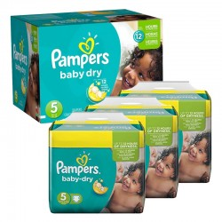 Pampers - Maxi Pack 288 Couches Baby Dry taille 5