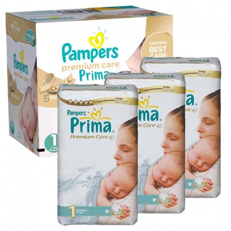 Pampers - Maxi Giga Pack 330 Couches Premium Care - Prima taille 1 sur Les Couches