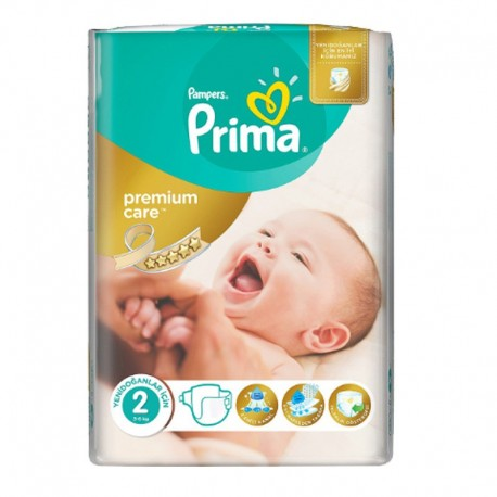 Pampers - Pack 22 Couches Premium Care - Prima taille 2 sur Les Couches