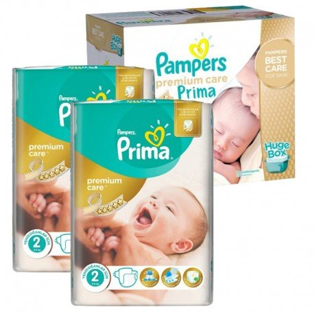 Pampers - Maxi Pack 242 Couches Premium Care - Prima taille 2 sur Les Couches