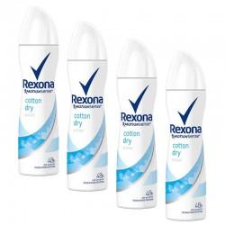 Rexona - Lot 4 Deodorants Motion Sense Cotton Dry sur Les Couches