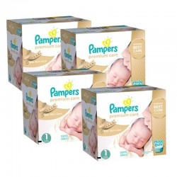 Pampers - Maxi Giga Pack 328 Couches Premium Care taille 1 sur Les Couches