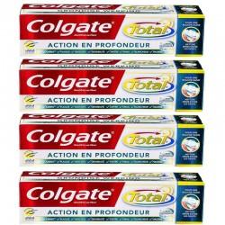 Colgate - Lot 4 Dentifrices Total Action en Profondeur sur Les Couches