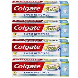 Colgate - Lot 4 Dentifrices Total Expert Nettoyage sur Les Couches