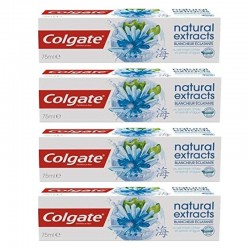 Colgate - Lot 4 Dentifrices Natural Extracts Blancheur Eclatante sur Les Couches