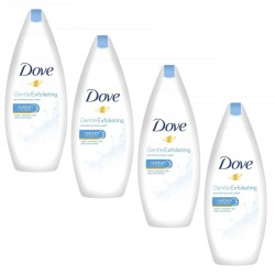Lot de 4 Gels Dove Douche 250 ml Gentle Exfoliating sur Les Couches