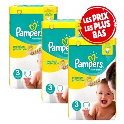 Pampers - Maxi Pack 200 Couches New Baby - Premium Protection taille 3