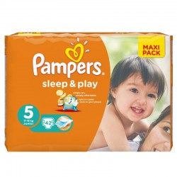 Pampers - Pack 42 Couches Sleep & Play taille 5 sur Les Couches