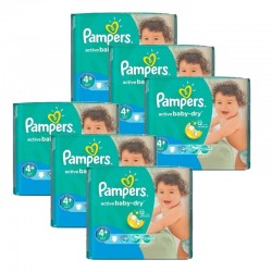 Pampers - Giga Pack 288 Couches Active Baby Dry taille 4+
