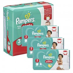 Pampers - Mega Pack 390 Couches Baby Dry Pants taille 3