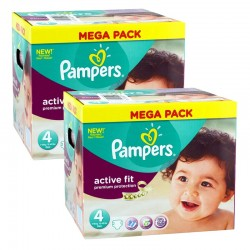 Pampers Mega Pack 840 Couches Active Fit Premium Protection taille 4