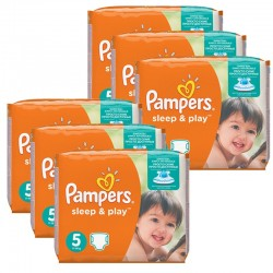 Pampers - Giga Pack 232 Couches Sleep & Play taille 5 sur Les Couches