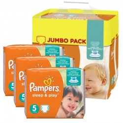 Pampers - Giga Pack 348 Couches Sleep & Play taille 5 sur Les Couches