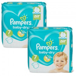 Pampers - Maxi Pack 115 Couches Baby Dry taille 7 sur Les Couches