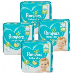 Pampers - Maxi Pack 138 Couches Baby Dry taille 7 sur Les Couches