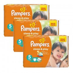 Pampers - Giga Pack 126 Couches Sleep & Play taille 5 sur Les Couches