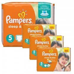 Pampers - Maxi Pack 252 Couches Sleep & Play taille 5 sur Les Couches