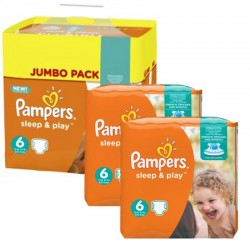 Pampers - Giga Pack 150 Couches Sleep & Play taille 6 sur Les Couches