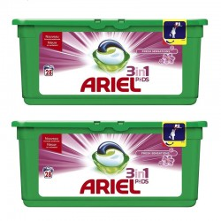 Lot de 2 Ariel Pods 28 Fresh Sensations 3in1 (795,2 gr) sur Les Couches