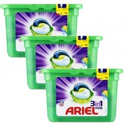 Lot de 3 Ariel Pods 16 Colour & Style 3in1 (432 gr) sur Les Couches