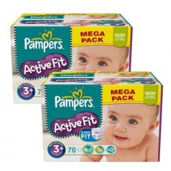 Pampers - Maxi Pack 140 Couches Active Fit taille 3+ sur Les Couches