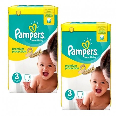 Pampers - 100 Couches premium protection taille 3 sur Les Couches