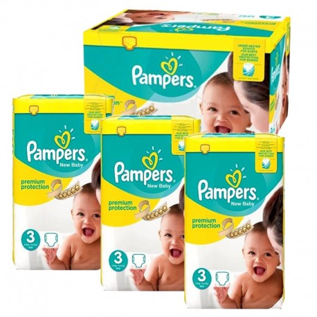 Pampers - Maxi Pack 300 Couches premium protection taille 3 sur Les Couches