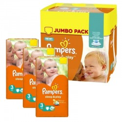 Pampers - Mega Pack 328 Couches Sleep & Play taille 3