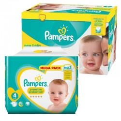 Pampers - Mega Pack 117 Couches new baby - premium protection taille 4