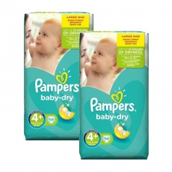 Pampers - Giga Pack 112 Couches Baby Dry taille 4+ sur Les Couches