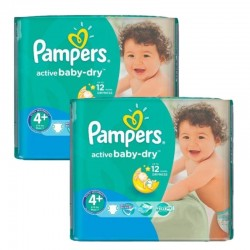 Pampers - Maxi Pack 108 Couches Active Baby Dry taille 4+