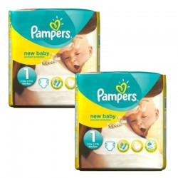 Pampers - Pack 46 Couches new baby - premium protection taille 1 sur Les Couches