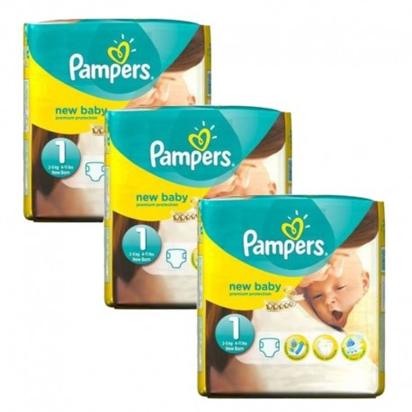 Pampers - Pack 69 Couches new baby - premium protection taille 1 sur Les Couches