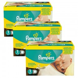 Pampers - Maxi Pack Jumeaux 506 Couches new baby - premium protection taille 1