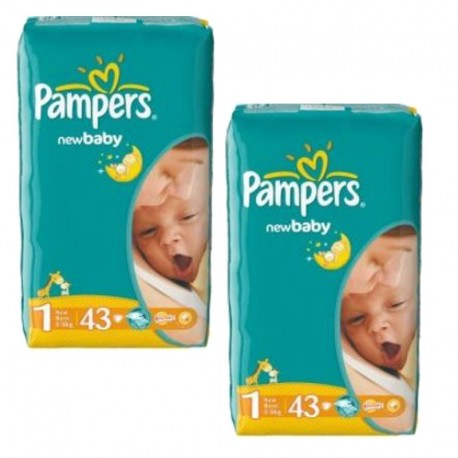 Pampers - Pack 86 Couches New Baby Dry taille 1 sur Les Couches