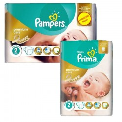 Pampers Pack 114 Couches New Baby Premium Care taille 2 sur Les Couches