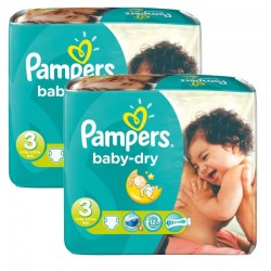 Pampers - 102 Couches Baby Dry taille 3