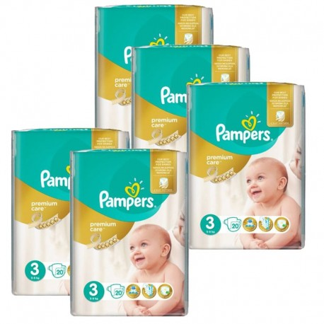 Pampers - Mega Pack 140 Couches Premium Care - Prima taille 3 sur Les Couches