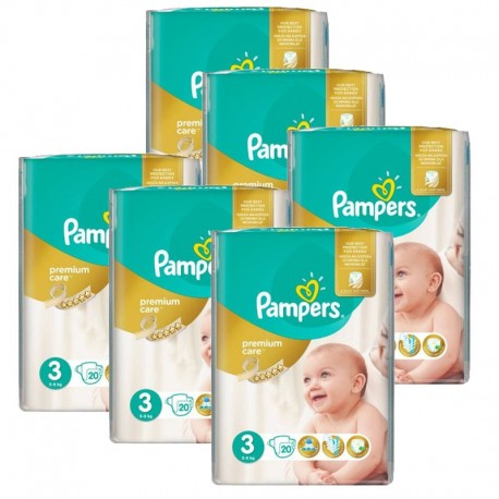 Pampers - pack Jumeaux 480 Couches Premium Care - Prima taille 3 sur Les Couches