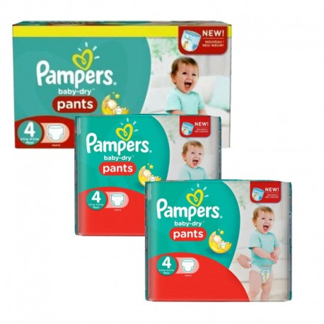 Pack 188 couches Pampers Baby Dry Pants sur Les Couches